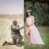 Трогательное фото с фотосессии беременной женщины
