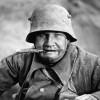 «Рогатые» каски немецких солдат