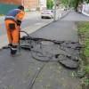 Тротуар, сделанный без отката