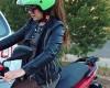 Необычный мотоциклетный шлем из Японии