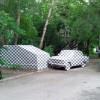 Гараж и авто в клеточку — новый арт-объект Екатеринбурга