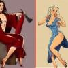 10+ героинь Игры престолов в соблазнительных Pin-up образах