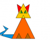 Тест на внимательность. Сколько треугольников в этом котике?