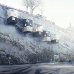 Подвесные наскальные дома от шведской компании Manofactory