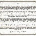 Заповедь Редьярда Киплинга. Читать и перечитывать!