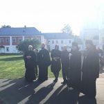 На снимках из Коневского монастыря рядом с Путиным появилась женщина