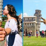 13 фото людей, которые знают, как правильно позировать с Пизанской башней