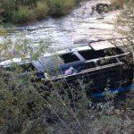 Не далеко от Краснодара микроавтобус с пятнадцатью пассажирами слетел в реку