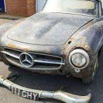 Mercedes 190 SL 1960 года выпуска, который пылился в гараже 30 лет
