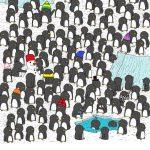 Новогодняя головоломка: Сможете найти кружку шоколада среди пингвинчиков?