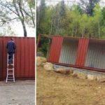 Хрупкая девушка построила дом своей мечты из старых контейнеров